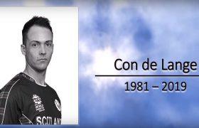 Scottish Cricketer Con De Lange Dies After Long Battle with Dangerous Disease