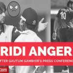 Afridi Angered After Gambhir's Press Conference