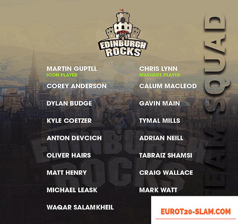 Edinburgh Rocks Final Team Squad