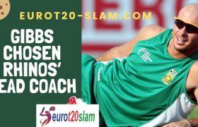 Gibbs Chosen Rhinos' Head Coach