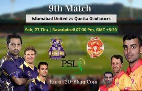 Islamabad United Vs Quetta Gladiators Prediction 2020