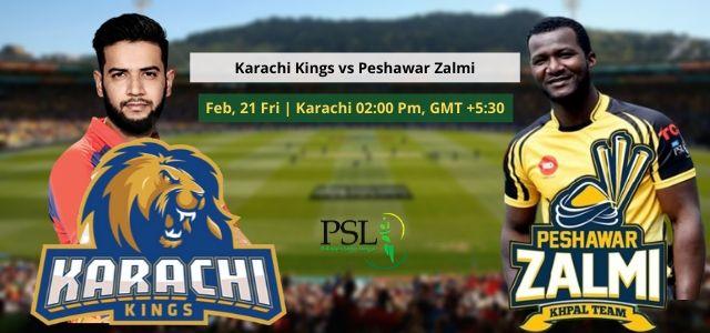 Karachi Kings vs Peshawar Zalmi Prediction 21 Feb 2020