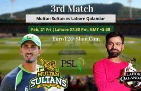 Lahore Qalandars vs Multan Sultans Prediction 21 Feb 2020