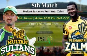 Multan Sultan Vs Peshawar Zalmi Match Prediction