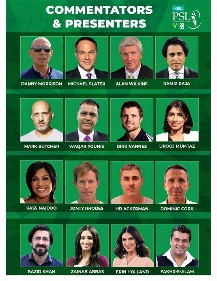 PSL 2020 Commentators List-Urdu & English PSL Commentators 2020 List