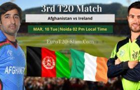 Afghanistan vs Ireland Prediction 3rd T20 Match