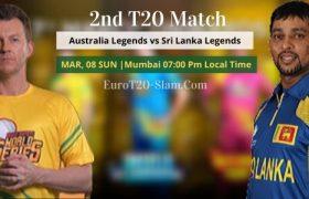 Australia Legends vs Sri Lanka Legends Prediction 2nd Match 8 March