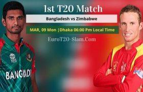 Bangladesh vs Zimbabwe Prediction 9 March 1st T20