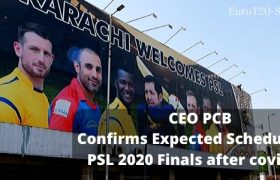 Here was all about CEO PCB Confirms Expected Schedule for PSL 2020 Finals After Covid-19