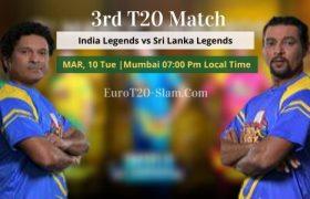 India Legends vs Sri Lanka Legends Today Match Prediction 3rd T20
