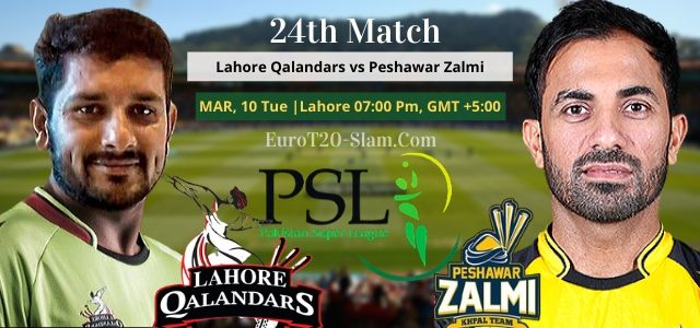 Lahore Qalandars vs Peshawar Zalmi Today Match Prediction 24th Match