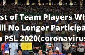 List of Team Players Who Will No Longer Participate in PSL 2020
