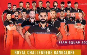 Royal Challengers Bangalore Players 2020