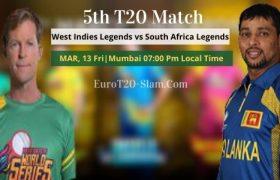 Sri Lanka Legends vs South Africa Legends Prediction 5th T20