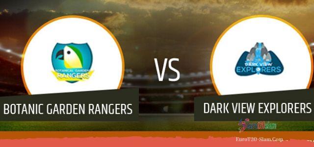 Dark View Explorers vs Botanic Garden Rangers 17th Match Today Match Prediction