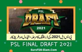 Pakistan Super League 2021 Draft-Final Draft Teams