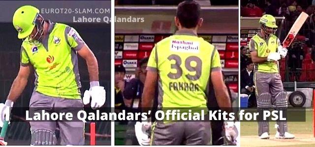 Cricket Lahore Qalandars' Official Kits for PSL 2021