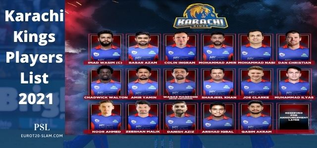 Karachi Kings Players 2021