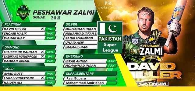 Peshawar Zalmi Squad PSL 6-PSL Team Players 2021