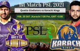 Quetta Gladiators vs Karachi Kings today match prediction