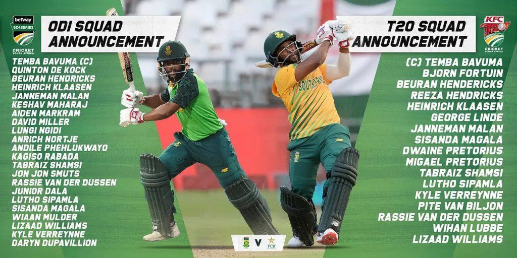 Team South Africa Full Team Squads 2021